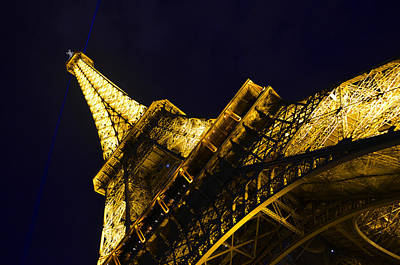 Strong Contrasts Photograph - Eiffel Tower Paris France Side by Patricia Awapara