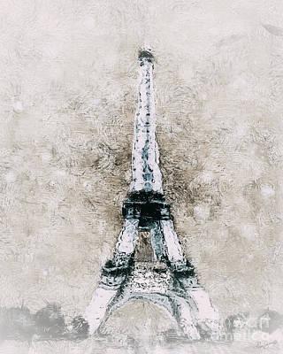 Eiffel Tower Wall Art Print by Shanina Conway