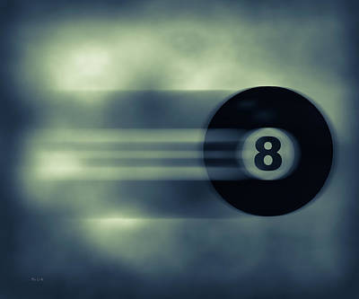 Game Photograph - Eight Ball In Motion by Bob Orsillo