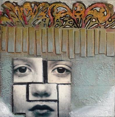 Mixed Media - Eight By Eight Gris by Susan McCarrell