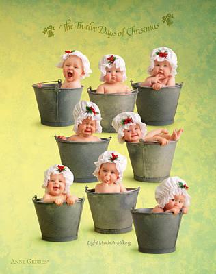 Fine Art Photograph - Eight Maids-a-milking by Anne Geddes