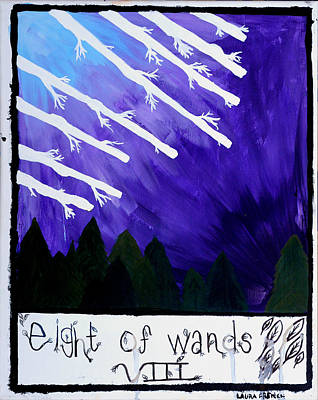 Universe Painting - Eight Of Wands by Laura French