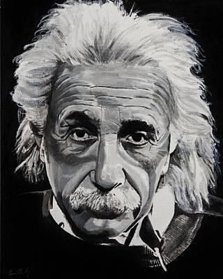 Pop Culture Painting - Einstein  by Brian Broadway
