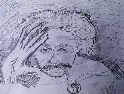 Einstein Pipe Dream Original by Charlotte NC Artist Phil Robinson