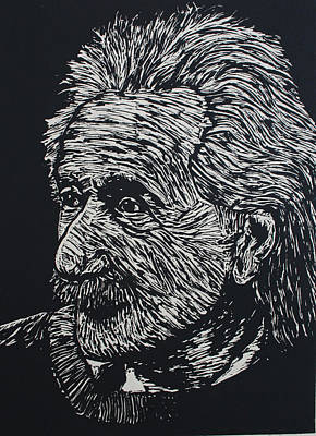 Einstein Drawing - Einstein by William Cauthern