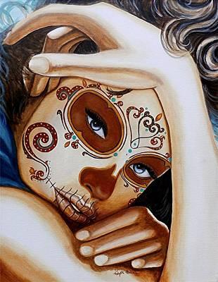 Painted Face Painting - El Amor Que Siento Por Vosotros Es Intemporal by Al  Molina