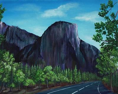 Park Scene Drawing - El Capitan by Anastasiya Malakhova
