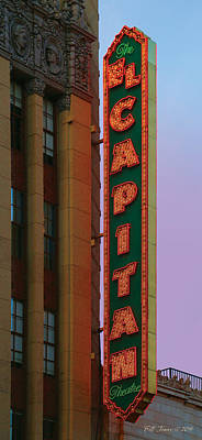 El Capitan Theatre Print by Bill Jonas