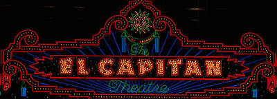 El Capitan Theatre Sign In Hollywood Print by Panoramic Images