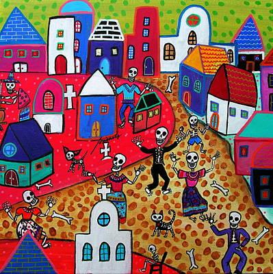Witch Cat Painting - El Dia De Los Muertos by Pristine Cartera Turkus