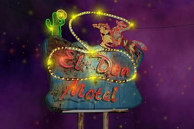 El Don Motel Print by Larry  Page