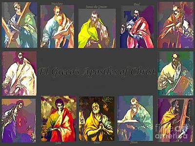 El Greco's Apostles Of Christ Print by Barbara Griffin