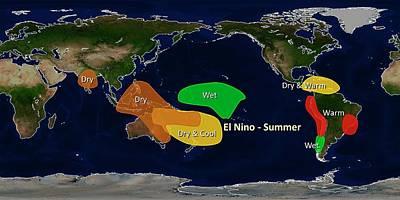 El Nino Summer Effects Print by Noaa