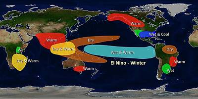 El Nino Winter Effects Print by Noaa