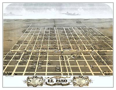 El Paso Illinois 1869 Map Print by Stephen Stookey