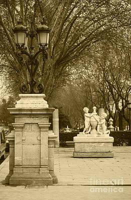 El Prado Boulevard Madrid Spain Print by James Brunker