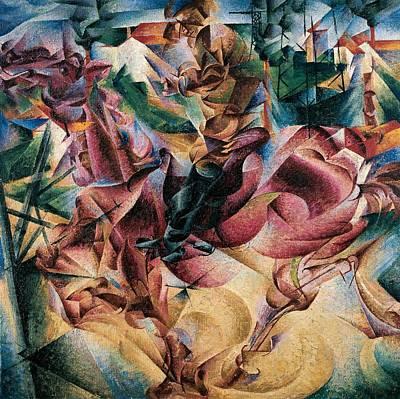 Literature Painting - Elasticity by Umberto Boccioni