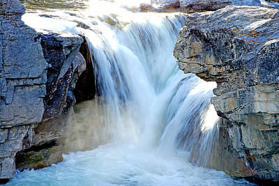 Alberta Photograph - Elbow Falls In Spring by Laura Strain