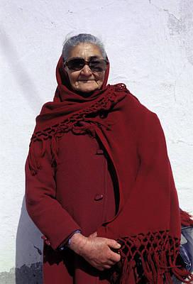Pompous Photograph - Elderly Woman In Red Coat by Mark Goebel