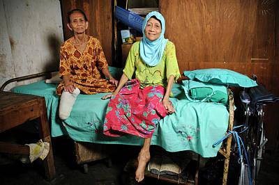 Elderly Women With Leprosy Print by Matthew Oldfield