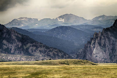 Eldorado Canyon And Continental Divide Above Print by James BO  Insogna