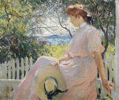 Victorian Era Painting - Eleanor by Frank Weston Benson