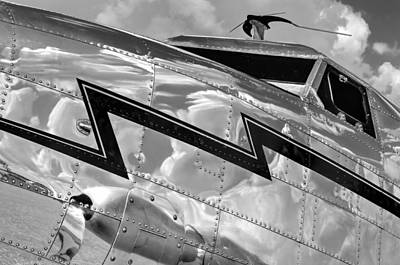 Electra Reflections In Black And White Print by Chris Buff