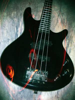 Guitar Photograph - Electric Bass - In The Studio by Brian Howard