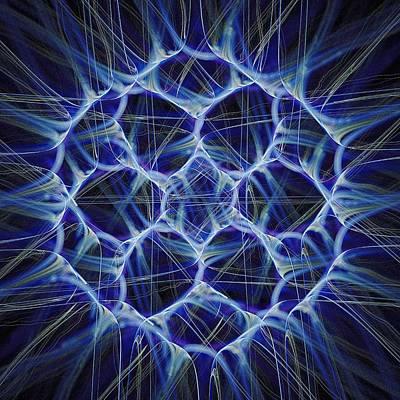 Electric Blue Print by Anastasiya Malakhova