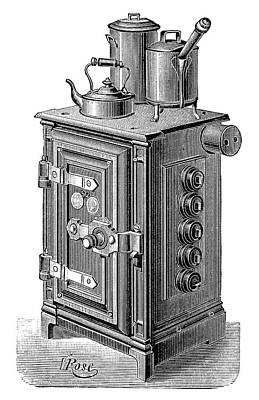 Electric Cooking Stove Print by Science Photo Library
