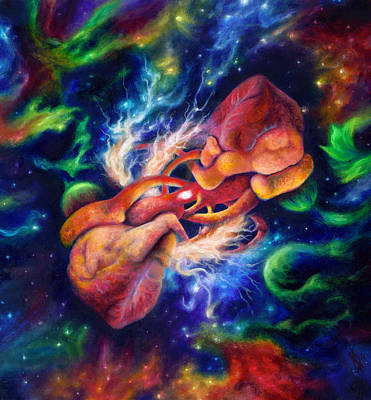 Universe Painting - Electric Desire by Kd Neeley