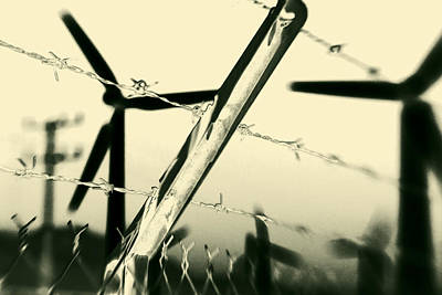 Desert Photograph - Electric Fence Silhouette by Scott Campbell