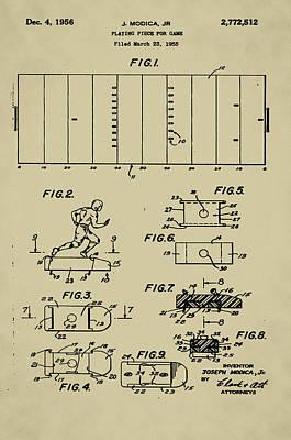 Vibrating Digital Art - Electric Football Patent by J Modica