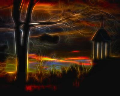 Electric Gothic Night Print by Gothicolors Donna Snyder