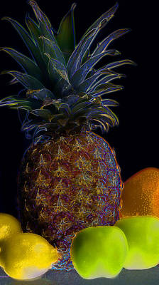 Kitchen Photograph - Electric Pineapple by Mark McKinney