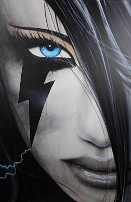 Portrait - 'electric Sin' Original by Christian Chapman Art