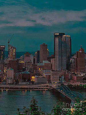 Light Photograph - Electric Steel City by Charlie Cliques