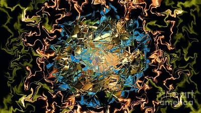 Earthtone Colored Art Digital Art - Electric Thoughts by Art Studio