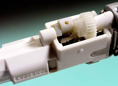 Gear Photograph - Electric Toothbrush Mechanism by Sheila Terry