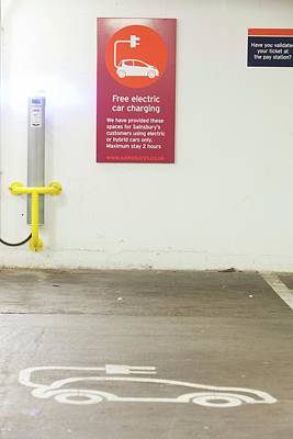 Electric Vehicle Charging Station Print by Ashley Cooper