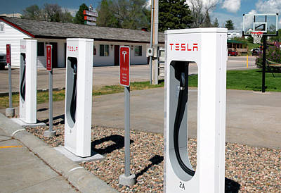 Electric Vehicle Charging Stations Print by Jim West