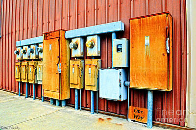 Current Control Photograph - Electrical Boxes I by Debbie Portwood
