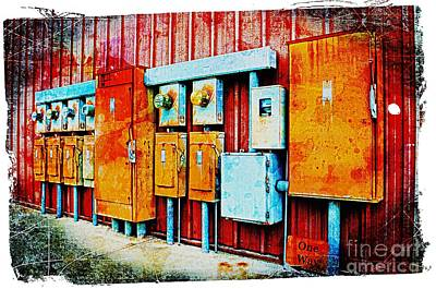 Current Control Photograph - Electrical Boxes II by Debbie Portwood