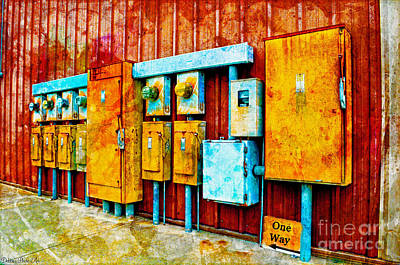Current Control Photograph - Electrical Boxes Iv by Debbie Portwood