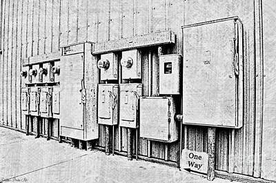 Current Control Photograph - Electrical Boxes V by Debbie Portwood