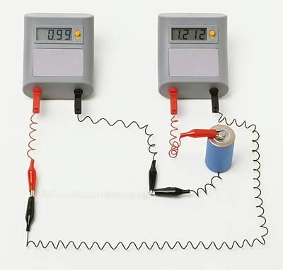 Electrical Circuit With Ammeter Print by Dorling Kindersley/uig