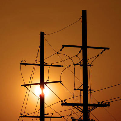 Electrical Power Lines Print by Don Spenner