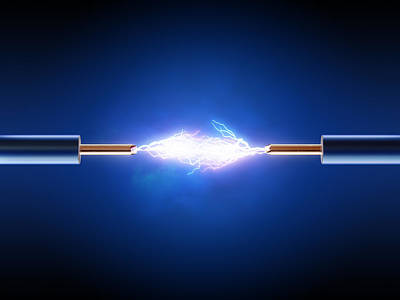 Flame Light Digital Art - Electric Current / Energy / Transfer by Johan Swanepoel