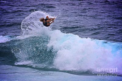 Electrifying Surfer Print by Heng Tan