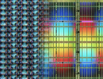 Microchip Photograph - Electronic Data Storage by Alfred Pasieka